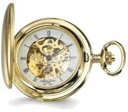 Charles Hubert Satin Gold-Finish White Dial Pocket Watch