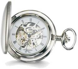 Charles Hubert White Skeleton Dial Pocket Watch