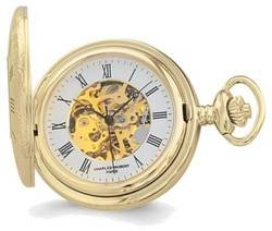 Charles Hubert Gold-Finish White Dial Pocket Watch XWA1913