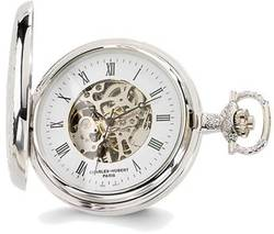 Charles Hubert Chrome-finish White Dial Pocket Watch XWA1914