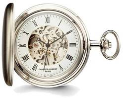 Charles Hubert Satin Chrome Finish Brass Pocket Watch