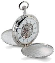 Charles Hubert Two-tone Gold-Finish Double Cover Pocket Watch