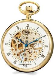 Charles Hubert Gold-Finish Brass Open Face Pocket Watch