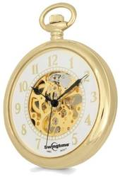 Swingtime Gold-tone Brass Open Face Pocket Watch