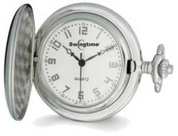 Swingtime Chrome-finish Brass Quartz Pocket Watch XWA2769