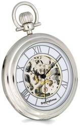 Swingtime Chrome-finish Brass Stand Pocket Watch