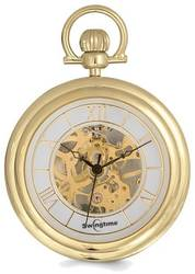 Swingtime Gold-finish Brass Stand Pocket Watch