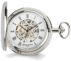 Charles Hubert Two-tone Gold-Finish Pocket Watch