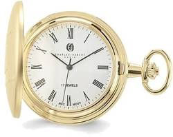 Charles Hubert Gold-Finish Brass White Dial Pocket Watch XWA3359