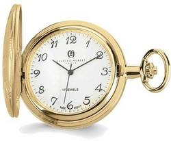 Charles Hubert Gold-Finish Brass White Dial Pocket Watch XWA3360