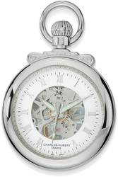 Charles Hubert Chrome-Finsh Open Face Pocket Watch