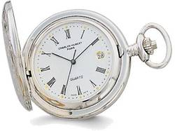 Charles Hubert 2-Tone White Dial Three Hands Pocket Watch
