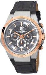 Mens Charles Hubert Stainless Steel Chrono Grey Dial Solar-powered Watch