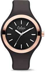Colori Macaron Black/Pink Bezel 44mm Watch