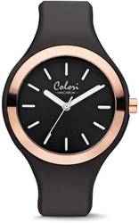 Colori Macaron Black/Pink Bezel 30mm Watch