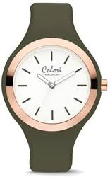 Colori Macaron Olive Green/Pink Bezel 44mm Watch