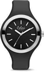 Colori Macaron Black/Silver-tone Bezel 44mm Watch