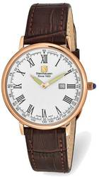 Steinhausen Altdorf Pink Finish Brown Strap Watch