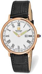 Steinhausen Altdorf Pink Finish White Dial Black Strap Watch