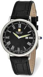 Steinhausen Altdorf Stainless Steel Black Dial Black Strap Watch