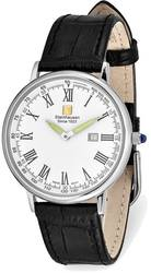 Steinhausen Altdorf Stainless Steel White Dial Black Strap Watch