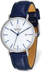 Steinhausen Ladies Burgdorf Stainless Steel White Dial Blue Strap Watch