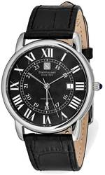 Steinhausen Delemont Stainless Steel Black Dial Black Strap Watch
