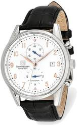 Steinhausen Lugano Stainless White Dial Black Strap Chronograph Watch XWA5822