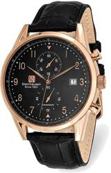 Steinhausen Lugano Pink Finish Black Dial Chronograph Watch