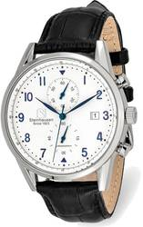 Steinhausen Lugano Stainless White Dial Black Strap Chronograph Watch XWA5824