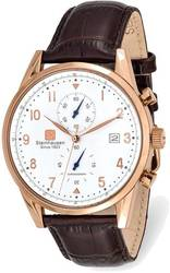 Steinhausen Lugano Pink Finish White Dial Chronograph Watch