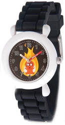 Disney Kids Incredibles 2 Baby Black Band Time Teacher Watch