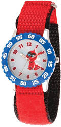 Disney Kids Incredibles 2 Baby Red Nylon Band Time Teacher Watch