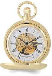 Charles Hubert Gold-Finish Pocket Watch