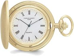 Charles Hubert Gold-Plated White Dial Pocket Watch