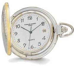 Charles Hubert Gold-Finish Two-tone White Dial Pocket Watch XWA616