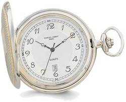 Charles Hubert Gold-Finish Two-tone White Dial Pocket Watch XWA620