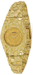 10K Yellow Gold 22mm Champagne Dial Nugget Watch