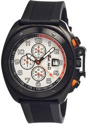 Breed Sander Chronograph Men's Watch w/ Date - Black/Silver-Tone