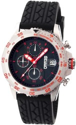 Breed Socrates Chronograph Men's Watch w/ Date - Silver-Tone/Red