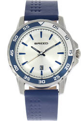 Breed Revolution Leather-Band Watch w/Date - Blue