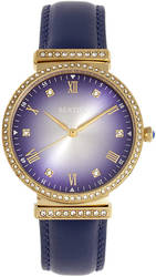 Bertha Allison Leather-Band Watch - Purple