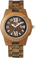 Earth Wood Heartwood Bracelet Watch w/Date - Olive