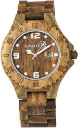 Earth Wood Raywood Bracelet Watch w/Date - Olive