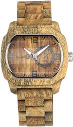 Earth Wood Scaly Bracelet Watch w/Date - Olive