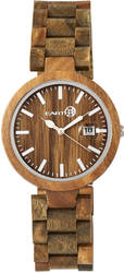 Earth Wood Stomates Bracelet Watch w/Date - Olive