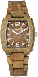 Earth Wood Sagano Bracelet Watch w/Date - Olive