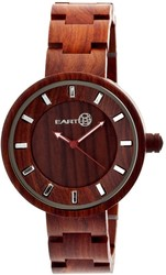 Earth Wood Root Bracelet Watch - Red
