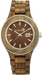 Earth Wood Cherokee Bracelet Watch w/Magnified Date - Olive