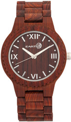 Earth Wood Bighorn Bracelet Watch - Red
